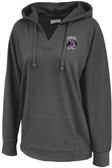Charm City Knights Ladies-Cut Hoodie, Heathered Black