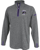 Charm City Knights Space Dye 1/4-Zip, Heather Gray/Purple