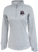 Charm City Knights Ladies-Cut Space Dye 1/4-Zip, Heather Silver