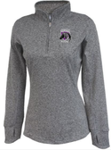 Charm City Knights Ladies-Cut Space Dye 1/4-Zip, Heather Black