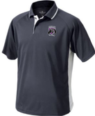 Charm City Knights Performance Polo, Slate Gray/White