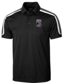 Charm City Knights Micropique Polo, Black/White/Gray