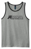 Charm City Knights Tank Top, Gray/Black