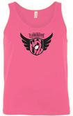 Baltimore Flamingos Ringspun Cotton Tank, Neon Pink