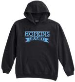 Hopkins Men's Rugby Hoodie, Black