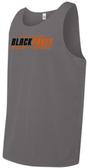 Black Foxes Mesh Tank Top, Gray