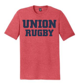 Union Rugby Triblend Tee, Red Frost