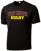 West Chester Rugby Performance Tee, Black
