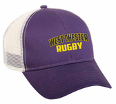 West Chester Mesh-Back Adjustable Hat, Purple/White