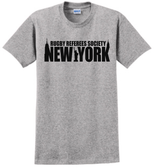 RRSNY Cotton Blend Tee, Gray