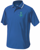 Grunion Rugby Performance Polo, Royal/White