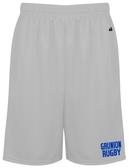 Grunion Rugby Gym Shorts, Silver Gray