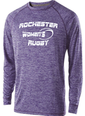 Rochester Renegades Long-Sleeve Performance Tee, Heathered Purple