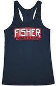 Fisher WRFC Performance Racerback Tank, Heather Navy