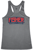 Fisher WRFC Performance Racerback Tank, Heather Gray