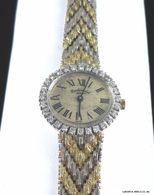 18k Continental Geneva Watch, with Diamond Bezel