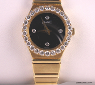 Ladies 18k Piaget Polo Watch, with Diamond Bezel & Diamond Dial