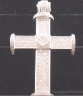 27 3/4 Carat Diamond Cross Pendant, Set in 14k White Gold