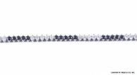Diamond & Sapphire Tennis Bracelet, in Platinum