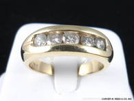 3/4 Carat Channel Set Diamond Wedding Band, in 14k Yellow Gold