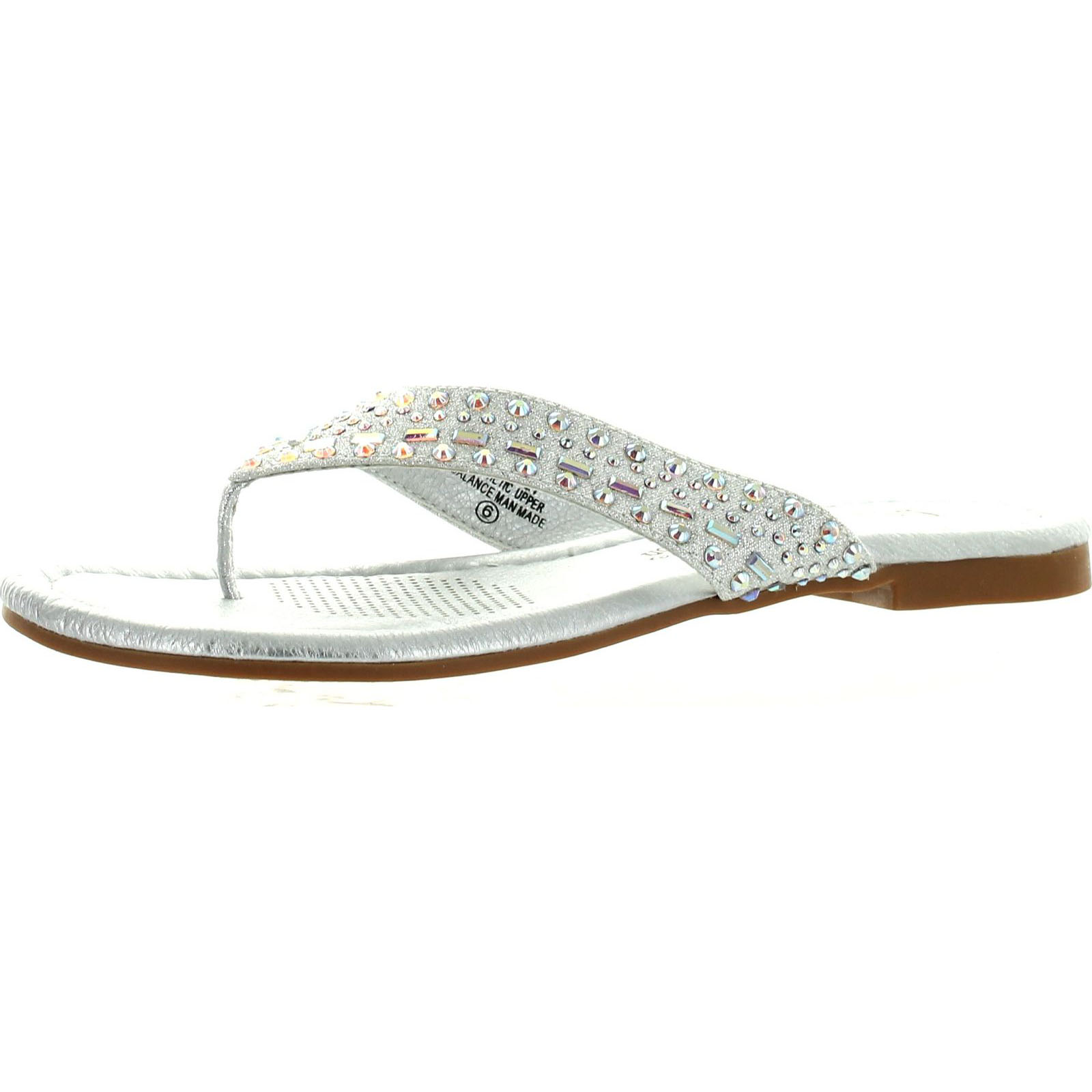 De blossom womens pinky 21 dress bling flip flop flat for Flat dress sandals for weddings