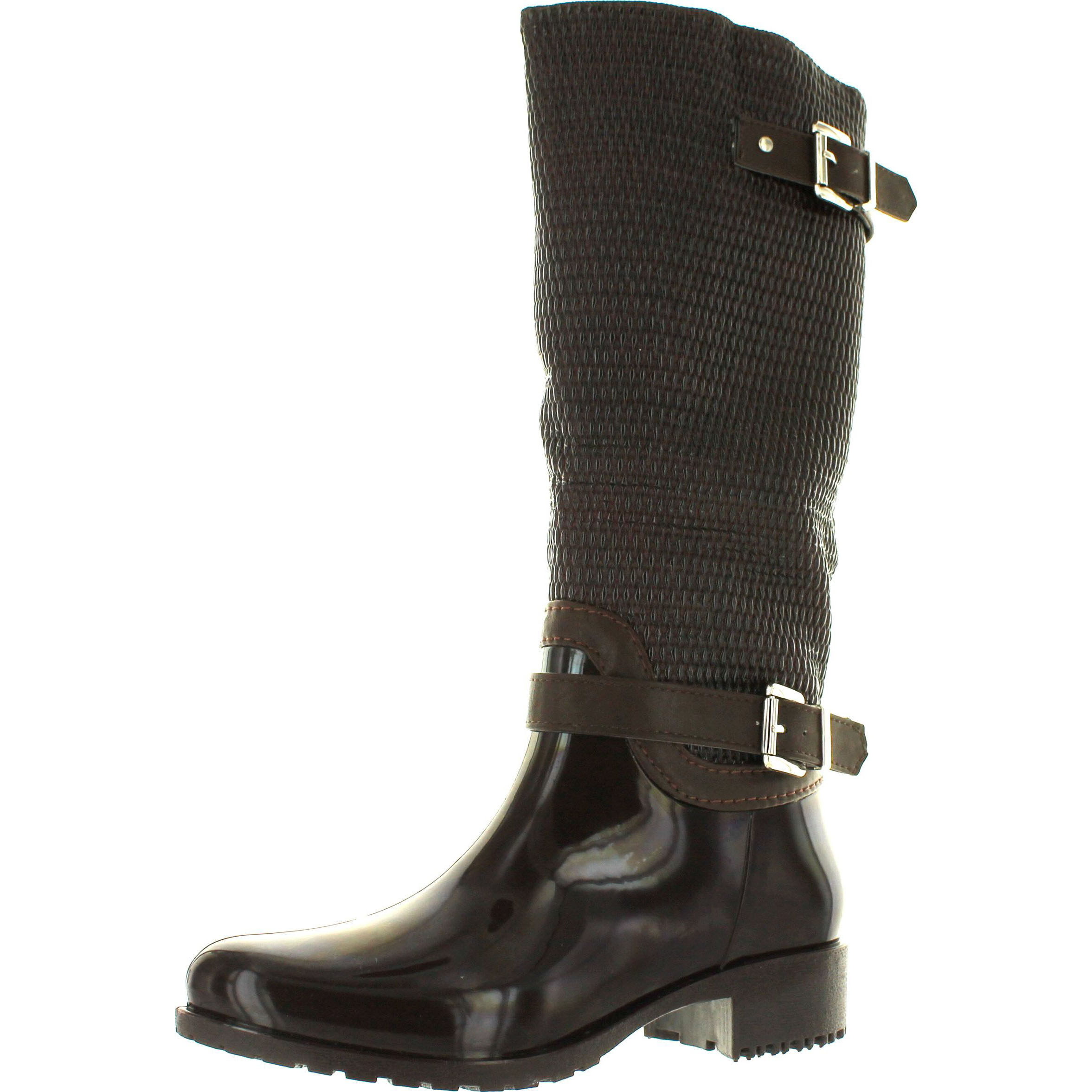 Forever Link Women s Clara-31 Motorcyle Quilted Buckle Boots  5cb3685031