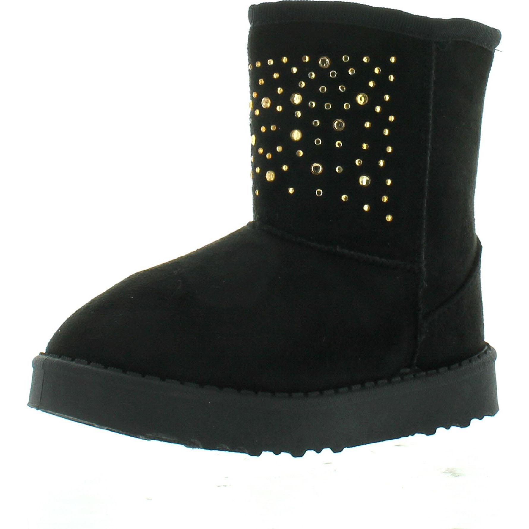 Coco Jumbo Black Patent Jane Boots Big Girls Size 4.5-7 Y