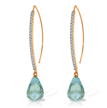 This gorgeous, affordable chandelier blue topaz pair of earrings is perfect for you or a loved one. Forged by hand with passion and precision, this piece is a pure example of how beautiful it is when gemstones and gold come together to form exquisite jewelry that will dazzle the eye and last for generations to come. Available in 14K yellow, white or rose gold.