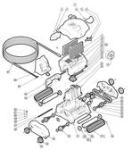 HAYWARD | MOTOR ASSY, SV/EV WALL CLIMB | RCX97490