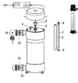 CUSTOM MOLDED PRODUCTS   QUARTZ TUBE, MODEL E-5   58-50305