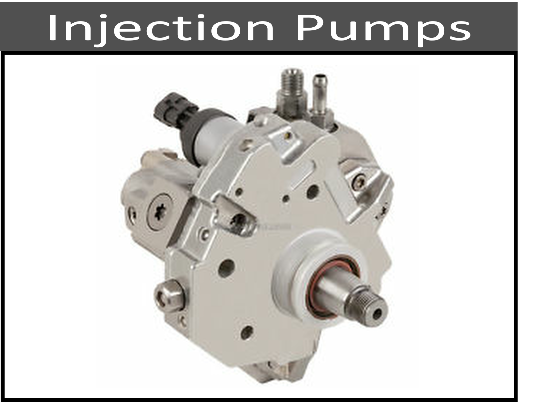Stock and Upgraded Fuel Injection Pumps