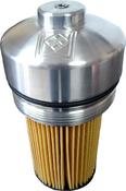 Black Diamond 6.0/6.4 Powerstroke Billet Oil Filter Cap with OEM Replacement Filter