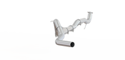 "2015.5 - 2016 Chevy/GMC 2500/3500 HD 4"" Down Pipe Back, Race Only, without bungs, with muffler, - AL"