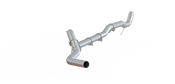 "2011-2015 Chevy/GMC 2500/3500 HD 4"" Down Pipe Back, Race Only, without bungs, without muffler, - AL"