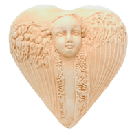 "Inner Spirit ""Thoughts of Miracles"" Guardian Angel Heart Rattle"