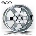 "24"" ECO-808 24x10 chrome 6x135  +30 offset"
