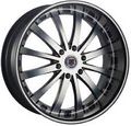 "22"" RED SPORT RS-77B MACHINED 22X9 6X5.5  +25"