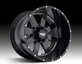 20X12 MOTO METAL 962 GLOSSY BLACK MILLED 8X6.5 -44 OFFSET