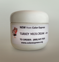 If you're no Spring chicken, you need Turkey Neck Cream! As we age and develop cellulite in the neck area, tighten up with Turkey Neck Cream. Great for the decollete area to smooth lines of dryness and aging. Pat it on and watch it tighten up.