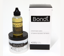 BONDI..a bond repair system   Large size: approx. 96 heads per kit Bondi is a simple anti-oxidant system that helps to repair and restore damaged bonds of the hair from over-processing of bleach and strong chemicals in high lift tint and relaxers. It works during the bleaching, hi-lift color processes, and the neutralizing of relaxers, protecting the integrity of the hair, while helping to rebuild the disulphide sulfur bonds that hold keratin within the hair. It enhances the conditioning power of keratin treatments. Bondi works with any brand of high lift tint, bleach, keratin treatment and Relaxer (neutralizer).  Bond repair while performing most of your salon services with a one-step system.