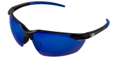 Bullhead Mojarra Lens Color: Full Blue Mirror Frame Color: Matte Black Base Curve: 8