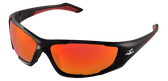 Bullhead Javelin Lens Color: Full Red Mirror Frame Color: Matte Black Base Curve: 8