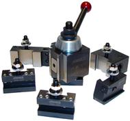 "Phase II Quick-Change Piston Type Lathe Tool Post Set 251-100 ( Swing: up to 12"") - 35-208-8"