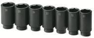 "SK Tools 7 Piece 1/2"" Drive Axle Nut Deep Impact Socket Set - SK4007"