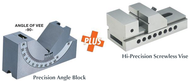 Precise  0-60° Precision Angle Block & Hi-Precision Screwless Vise Set PABV-912 - 57-020-100