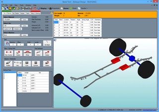 3D Parts & Components - Design and create exhaust tubes around axles, mufflers, gas tanks, and etc. Then the software will provide necessary bending instructions such as length, rotation, and angles, of the tubes with accurate exhaust tube bending and fabricating.