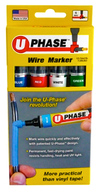 UMARK UPhase Wire Marker Assorted Colors 4 Pack - 10718PSA