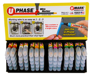 UMARK UPhase Wire Marker Assorted Colors 70 Pack - 10719PMD