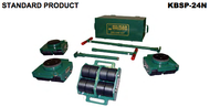 Hilman 24-Ton Deluxe Bull Dolly Kit With Swivel-Padded Top, Nylon Wheels - KBSP-24N