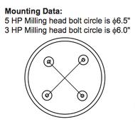 Precise Milling Machine Head EVS Head - MH-E300R8